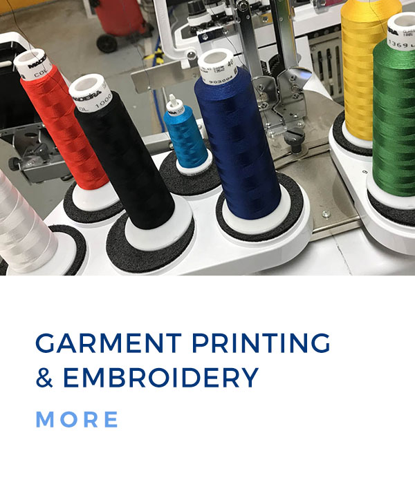 garment printing and embroidery